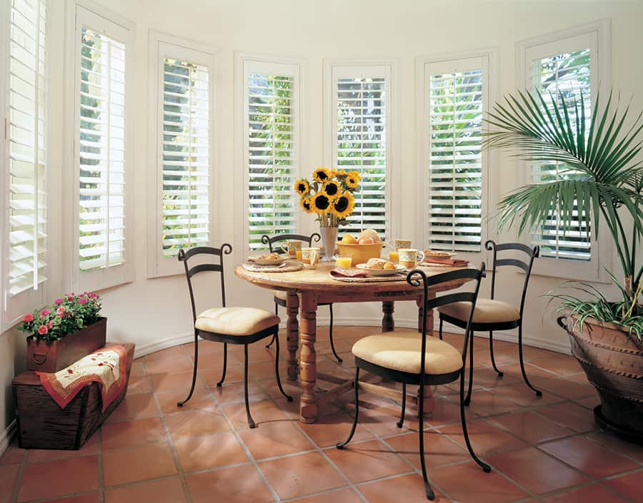 Why Hardwood Shutters are Perfect for Homes in Washington, DC like Heritance for Dining Rooms