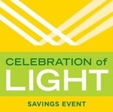 Hunter Douglas Celebration of Light Window Treatment Savings Logo