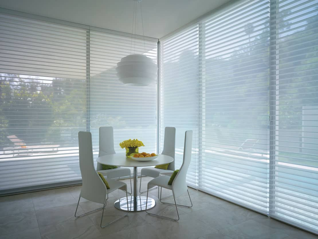 Choosing Custom Premium Shades for Homes Near Bethesda, Maryland (MD) like Silhouette for Dining Room Windows