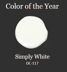 Simply White Benjamin Moore Color of the Year